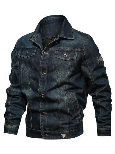 Lapel Gradient Thick Slim Single-Breasted Jacket Men Jacket