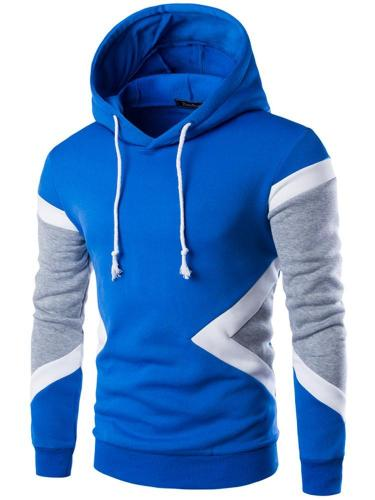 Hot Sale New Mens Fashion Sweatshirt Hit Color Men Hoodies Hip Hop Side Zipper Men Sports Sweater Men Cloth Jacket
