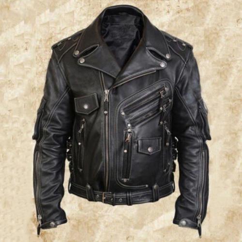 Jacket Color Block Stand Collar Patchwork Slim Single-Breasted Jacket Man leather Jacket