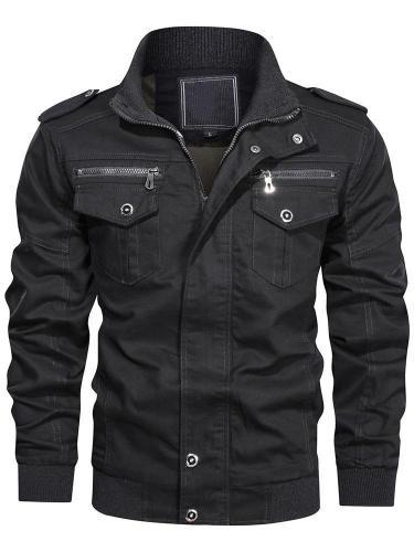 Patchwork Stand Collar Slim Winter Jacket Man Jacket