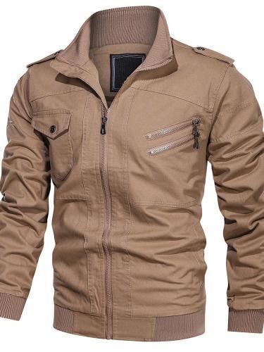 Stand Collar Patchwork Plain European Fall Jacket Man Jacket