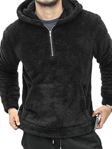 Men's Winter Jacket Fashion Warm New Plush Polar Fleece Sweatshirt Jacket Men European Style Thermal Casual Hoodies Men Cloth