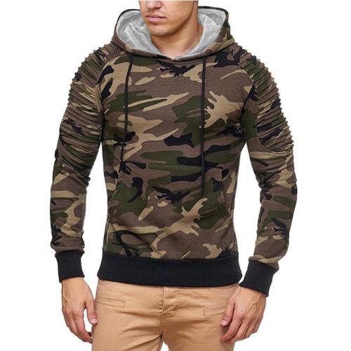 Men's basic slim pocket pullover, long sleeve knitted pullover cloth men coat