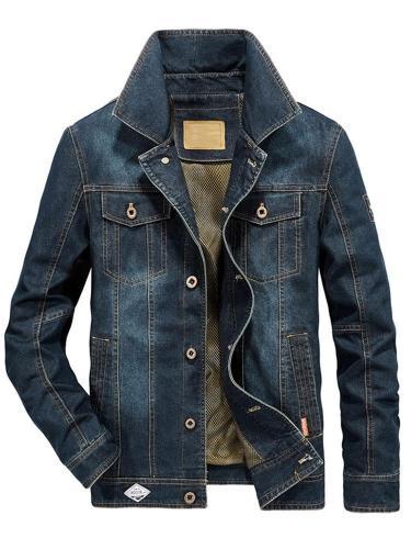 Worn Lapel Straight Single-Breasted Jacket Man Jacket