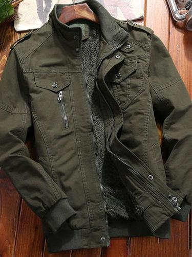 Stand Jacket Collar Thick Patchwork Winter European Jacket