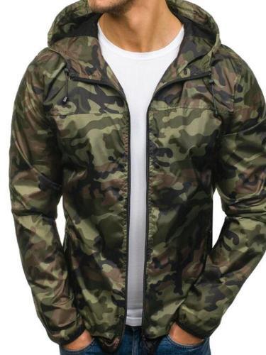 Hooded Print Camouflage European Slim Jacket Man Jacket