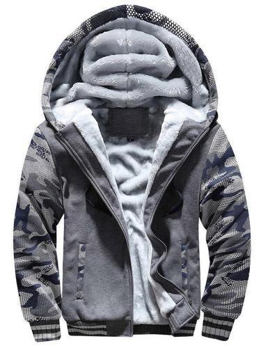 Men Jacket Coat Mens Hoodie Autumn Winter Warm Fleece Zipper Sweater Jacket Outwear Coat Men clothing