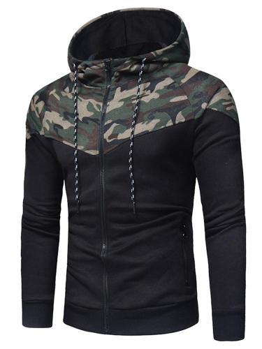 Men Coats Camo Casual Sport Outwear Slim Fit Tracksuits Cloth Men Jacket
