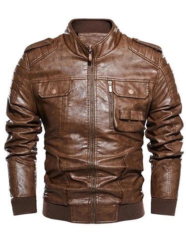 Lapel Plain Fall Single-Breasted Jacket Man Jacket