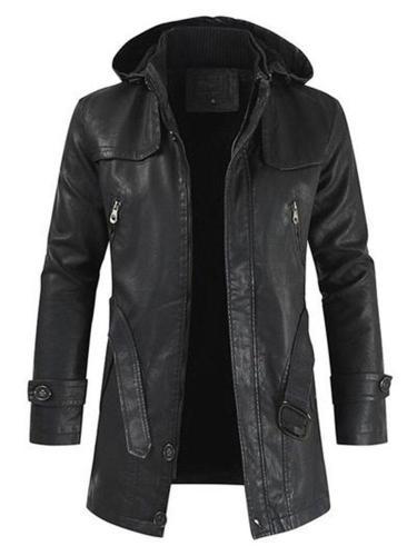 Stand Collar Plain Fall European Jacket Man Long Jacket