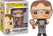 Funko Pop! TV: The Office-Dwight-Schrute 882 Dwight Holding Dwight Figure, Fall Convention Exclusive