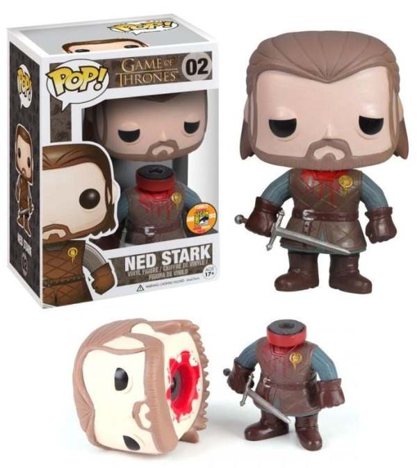 Funko Pop! Game Of Thrones Ned Stark 02 (Headless) (Bloody) SDCC Figure