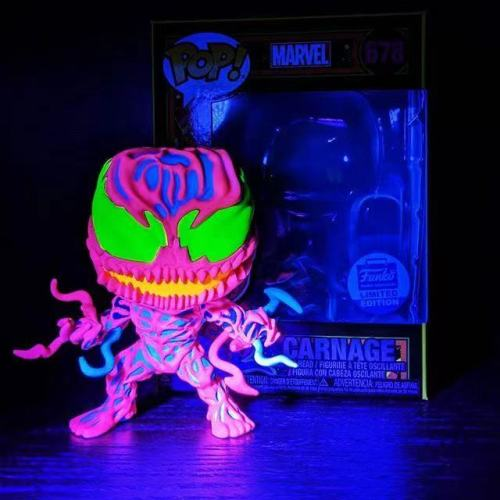 Funko Pop Marvel Carnage 678 Black Light (Bobble-Head) Vinyl Figure