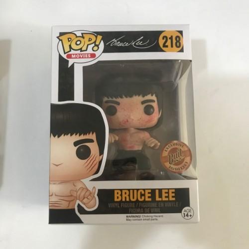 Funko Pop Bruce Lee #218 (Bait ) Movies Vinyl Figure(Blood )
