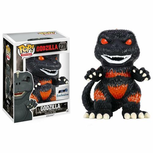 Funko Pop Movies Godzilla Burning Godzilla #239 GTS Exclusive Vaulted Damaged
