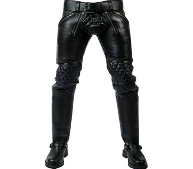 Men's leather trousers