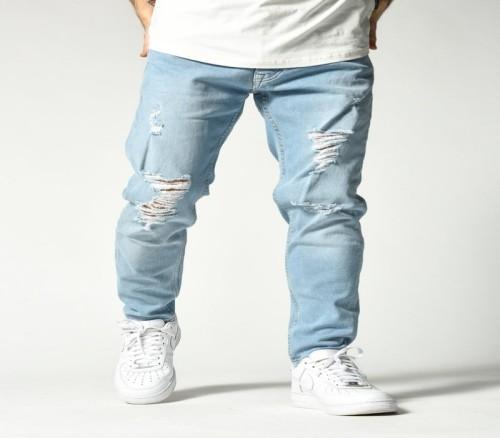 Cold blue jeans