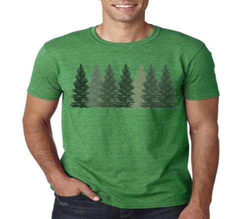 T-shirts of the tree