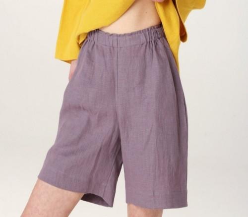 Linen women's shorts