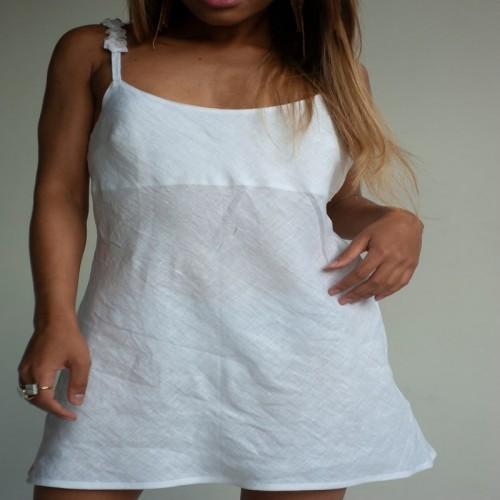 White linen pajamas