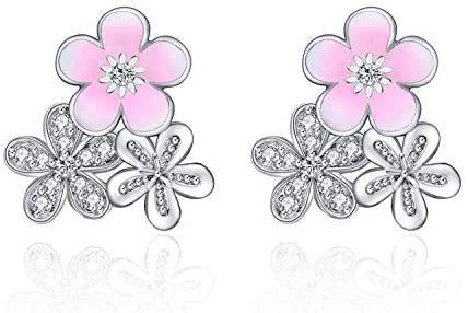 Dangle Earrings for Women Fashion Sterling Silver Dangling Drop Earrings Birthday Gifts for Teens Girls