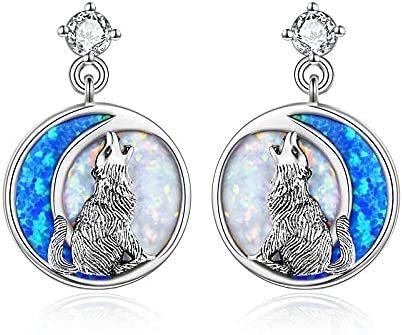Cute Animal Stud Earrings Wolf/Narwhal/Frog/Bee/Butterfly/Sea turtle Earrings for Women Girls Sterling Silver Birthday Jewelry Gifts