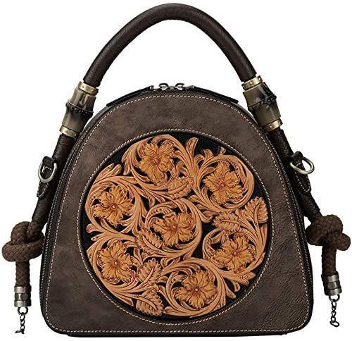 New Retro Bag Handmade Leather Bag Female Cowhide Leather Female Bag Messenger Bag Female Handbag Female European and American Shoulder Bag