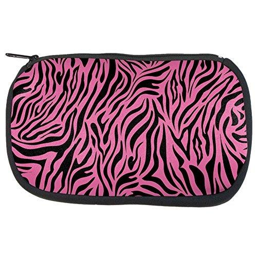 Zebra Print Pink Makeup Bag