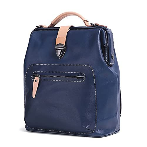 Vegetable Tanned Leather Retro Fashion Leather Backpack, Outdoor Ladies Shoulder Bag, Multi-Functional Backpack
