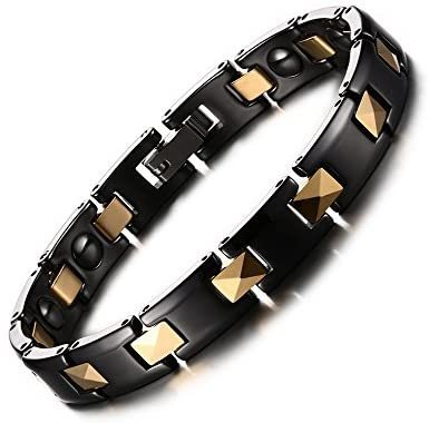 Women's Healthy Ceramic Magnetic Therapy Link Bracelet with Free Links Removal Tool,Take Care of Your Lover with Health