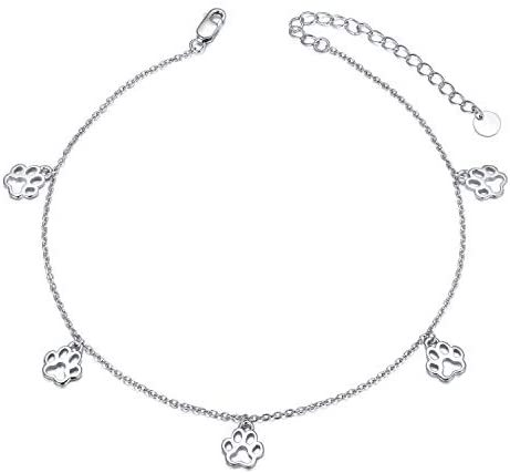 S925 Sterling Silver Anklets for Women Girls Jewelry Birthday Gifts
