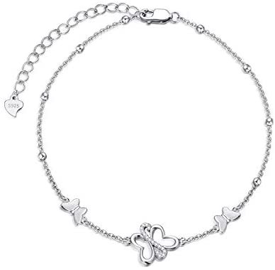 Cute Animal Anklets for Women Girls Beach Themed Gifts Sterling Silver Beach Foot Jewelry Birthday Gifts