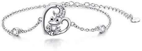 Cute Animal Link Bracelet Wolf/Frog/Sea Turtle Bracelet for Women Girls Sterling Silver Birthday Jewelry Gifts