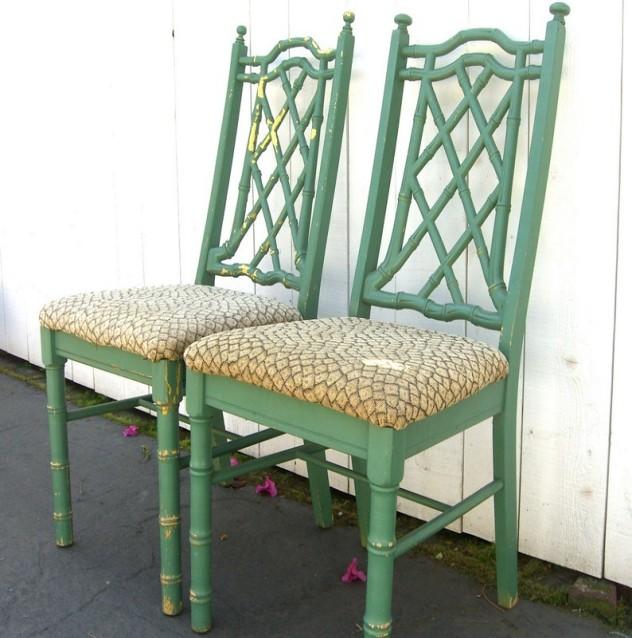 Artificial bamboo chair