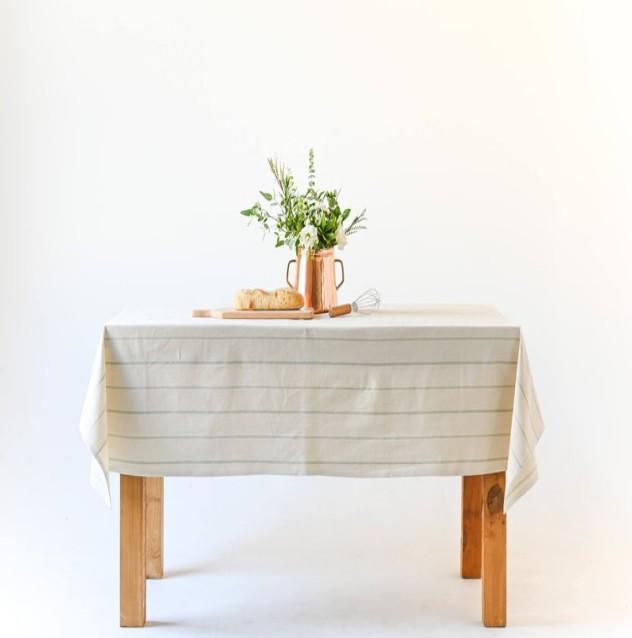 Striped Farmhouse Tablecloth