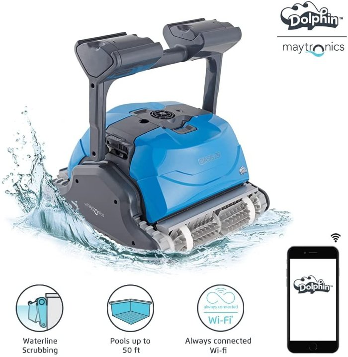 DOLPHIN Oasis Z5i WiFi Operated Robotic Pool [Vacuum} Cleaner