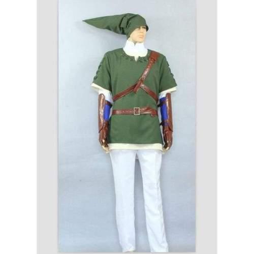 The Legend Of Zelda  Link Green Deluxe Cosplay Costume