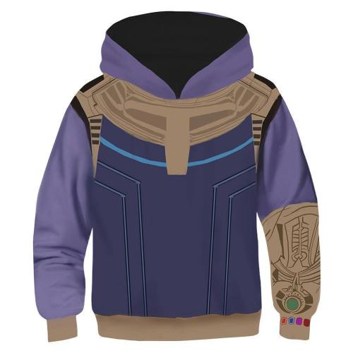 Kids Thanos Hoodies The Avengers Pullover 3D Print Jacket Sweatshirt