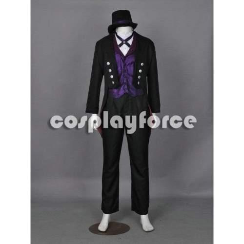 Black Butler Kuroshitsuji Sebastian Michaelis Book Of Circus The 3Rd Cosplay Costume