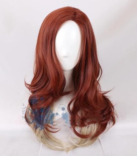 Black Widow Adult Dark Red Gradient Synthetic Hair Body Wave Wig