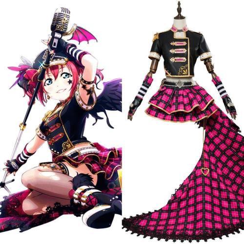 Love Live! Sunshine!! Ruby Kurosawa Dress Punk Rock Outfit Cosplay Costume
