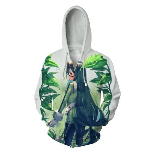 My Hero Academia Anime Cosplay Costume Sweatshirt Zip Up Hoodie