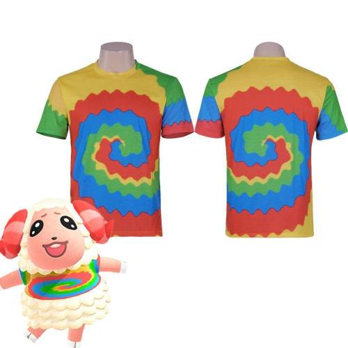 Animal Crossing: New Horizons-Dom Print T-Shirt Cosplay Costume
