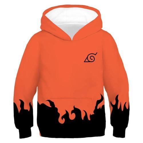 Kids Naruto Sixth Hokage Hoodies 3D Print Pullover Jacket Sweatshirt