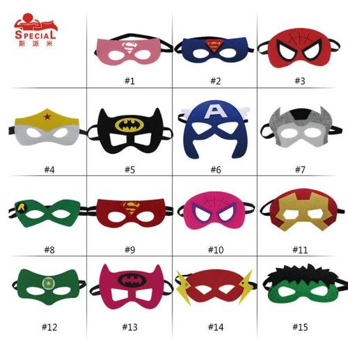 100 Pieces  Superhero Masks For Birthday Party  Christmas Cosplay Costume Face Mask Batman Spider-Man