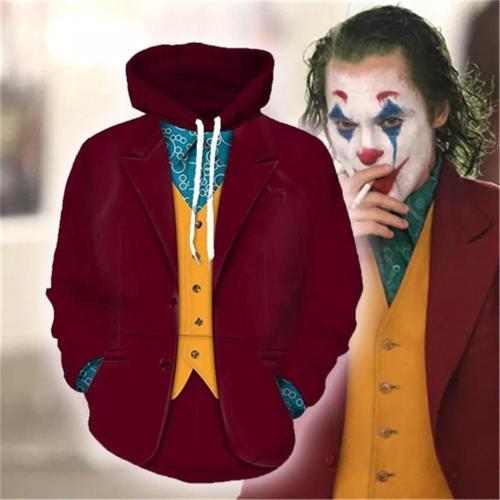 Movie Joker Arthur Fleck Hoodie Cosplay Hip Hop Hooded Sweatshirt Hooded Hoodie Costume Men Women Clohting Jackets Top