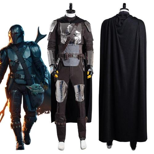 The Mandalorian S2 Beskar Armor Coat Uniform Outfits Halloween Carnival Suit Cosplay Costume