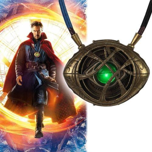 Doctor Strange Necklace Steve Eye Of Agamotto Necklace Eyes Led Light Cosplay Doctor Strange Prop