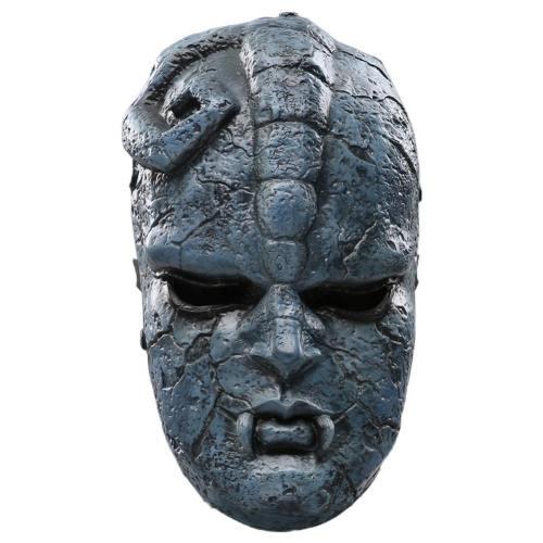Jojo'S Bizarre Adventure Stone Helmet Face Cover Halloween Cosplay Accessories