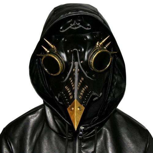 Plague Doctor Bird Mask Steampunk Beak Mask Metal Mask Cosplay Props